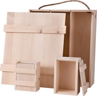 Inset Lid Wooden Box
